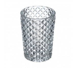 Deluxe Diamond Cut Glass Tumbler