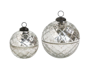 Diamond Cut Glass Ball Candle