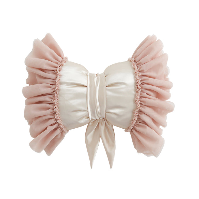 Dreamy Bow Cushion, champagne