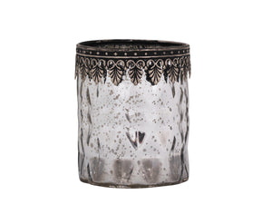 Fancy Silver Tealight Holder