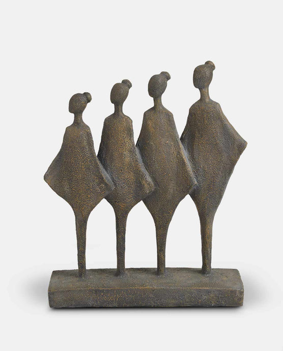 Four Female Figurines Statue