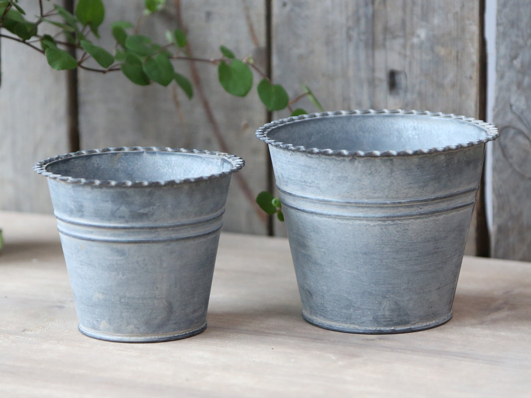 French Flower Pots - Set of 2