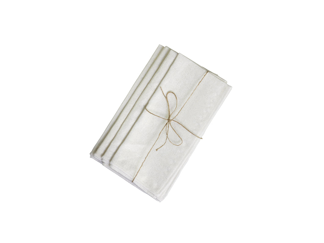 Gold Print Linen Mix Napkins - Set of 4