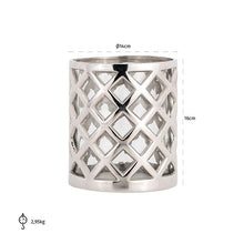 Hurricane Emmy Silver Chrome Candle holder