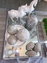 Silver Pine Cone Decoration - Medium - Willow and Grey Interiors