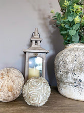 Grey Patterned Decorative Ball - small