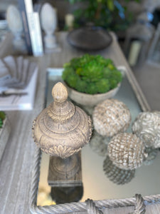 Natural wood effect finial
