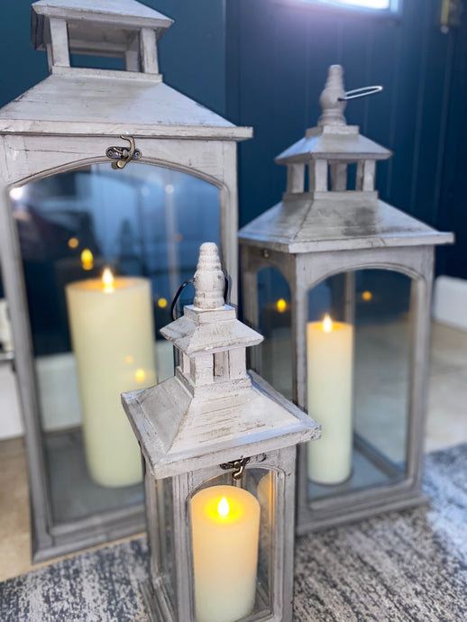 Oslo Wooden Lantern Set