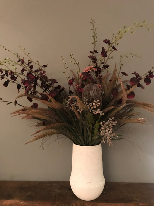 Luxurious Crimson Winter Bouquet