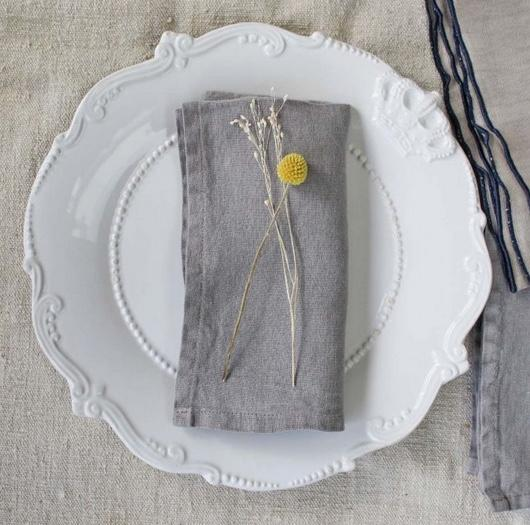 Light Grey Linen Napkin - Willow and Grey Interiors