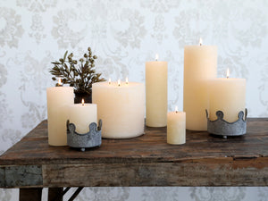Macon Rustic Pillar Candle - Cream
