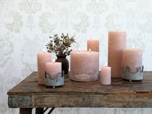 Macon Rustic Pillar Candle - Dusty Rose