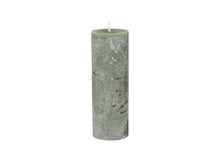Macon Rustic Pillar Candle - Olive Green