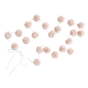 Mini Pom Pom Garlands, Champagne