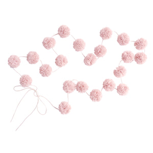 Mini Pom Pom Garland (Light Pink Colour)