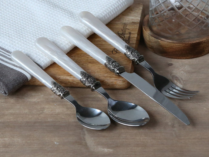Mother of Peal Cutlery Set - set of 4 pieces