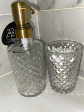 Deluxe Diamond Cut Glass Lotion Dispenser