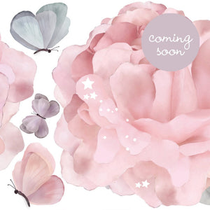 Peonies & Butterflies Wall Stickers