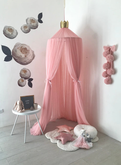 Sheer Canopy in Dusty Pink
