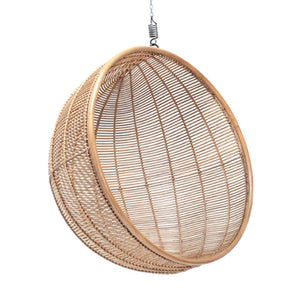 Hanging Rattan Bowl Shaped Chair - Willow and Grey Interiors