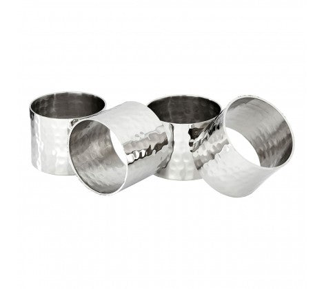 Set of 4 Silver Napkin Rings