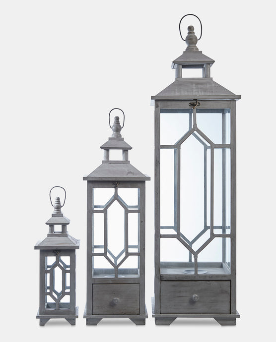 Vienna Set of 3 lanterns
