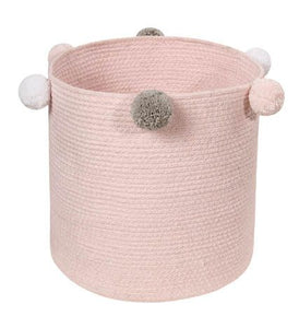 Bubbly Cotton Basket - Pink