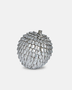 Silver Round Decorative Pine Cone