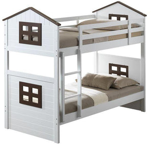 Wooden Bunk Bed, House Style Design - Willow and Grey Interiors