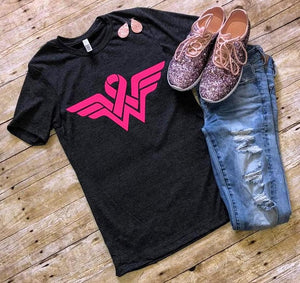 Wonder Woman Breast Cancer Awareness Ribbon