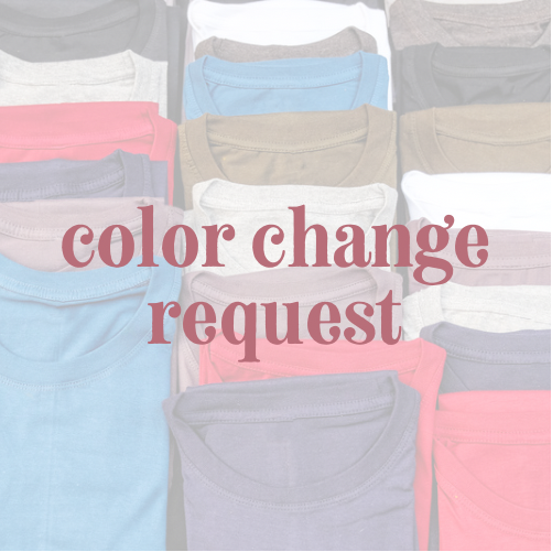 ADULT COLOR CHANGE REQUEST - BELLA CANVAS HEATHER COLORS *FINAL SALE*