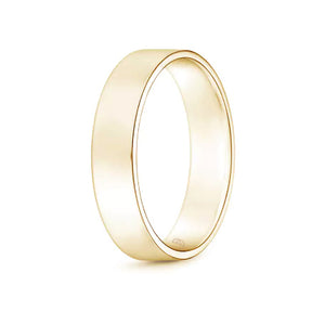 Mens' Flat Wedding Band- High Shine