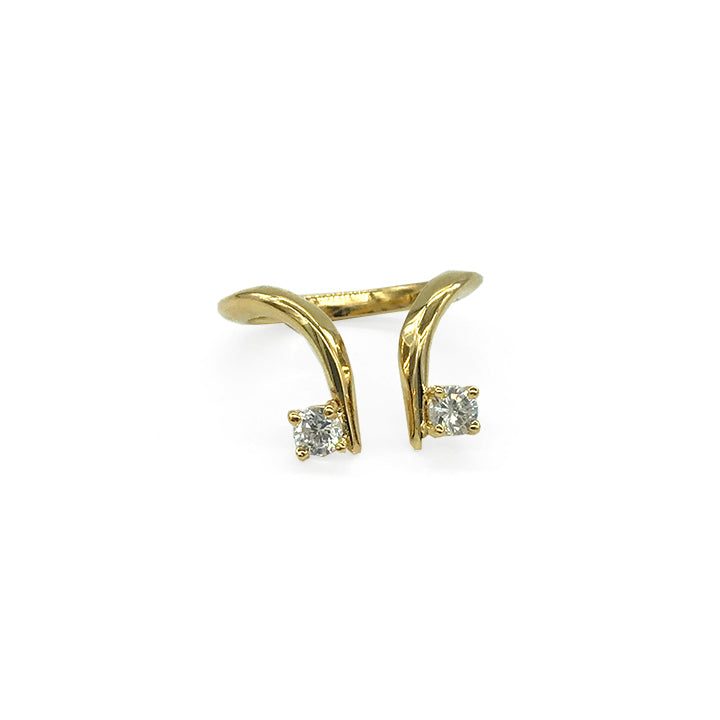 Baby Median Ring with Double Gems