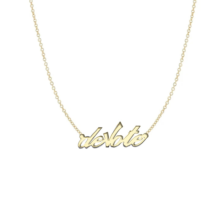 Devote Nameplate Necklace