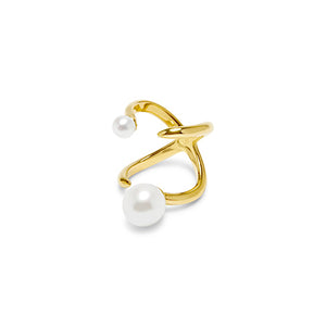 Double Pearl Knuckle Ring
