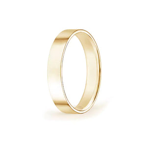 Womens' Flat Wedding Band- High Shine