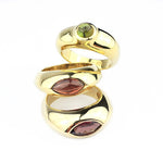 Mario Salvucci Gemstone Signet Pope Rings