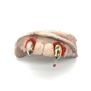 Twin Fangs (w/ Gemstone Inlay and Drip Blood)