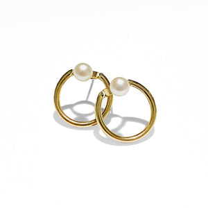 Earpod Small Pearl Hoops