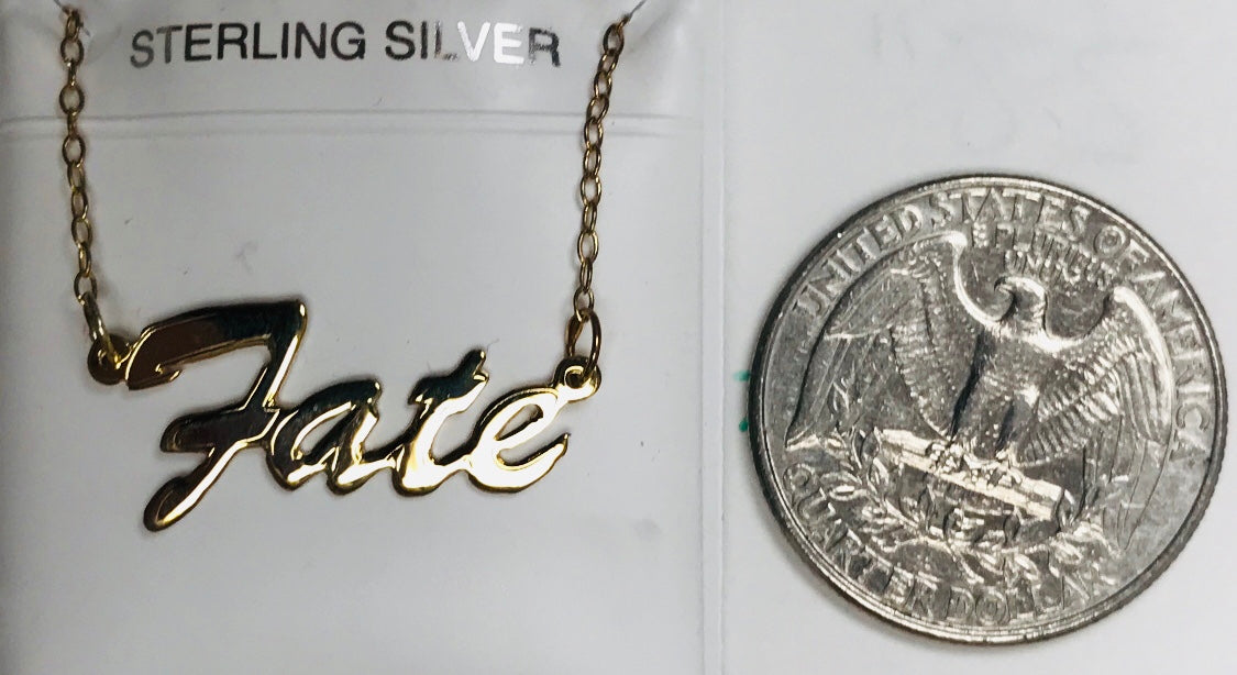 Fate Nameplate Necklace