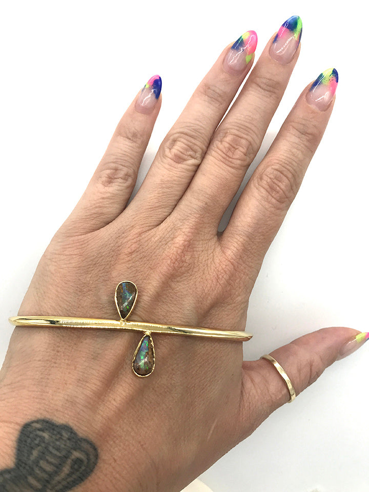 Skinny Handlet with Teardrop Opals