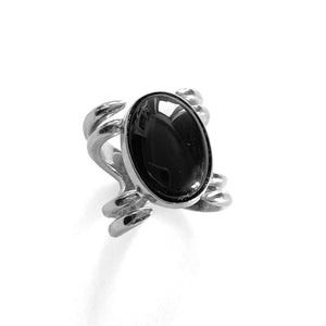 Black Onyx Double Knuckle Ring