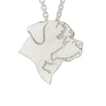 Gold & Sliver Plated Rottweiler Necklace