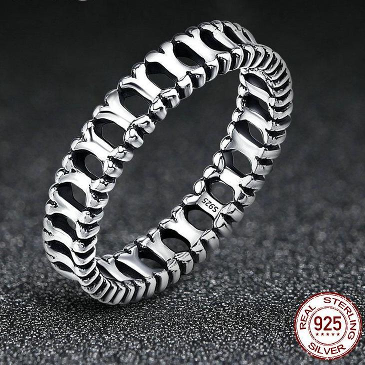 Sterling Silver Dog Bone Stackable Ring