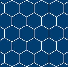 Round Blue Hexigon/ Charcoal (Factory Stock)