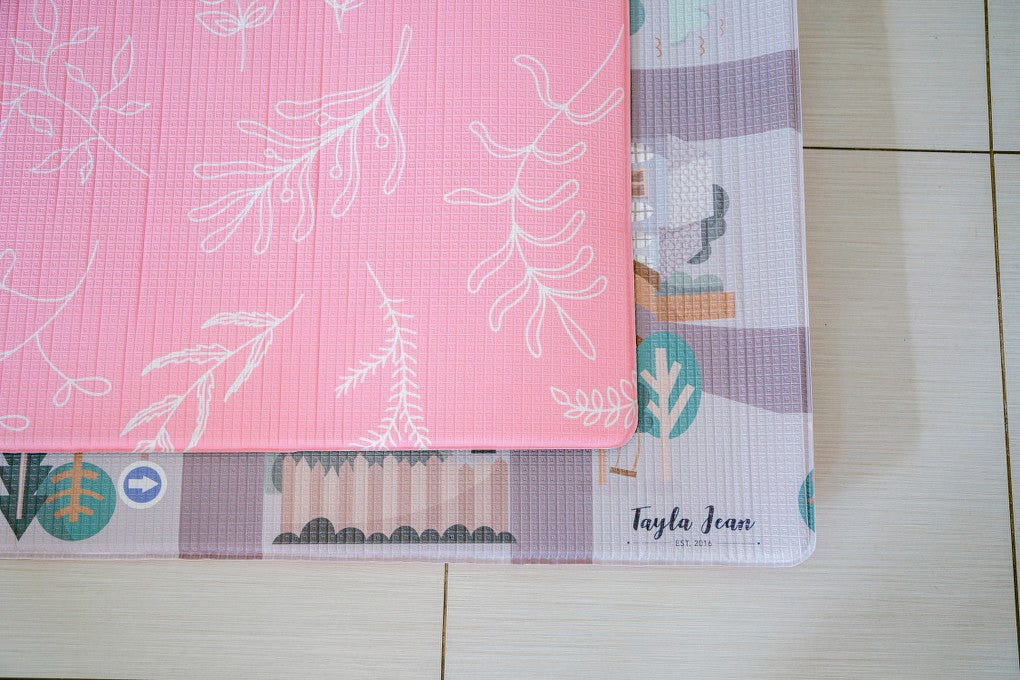 Rectangular Pink Floral/ Road