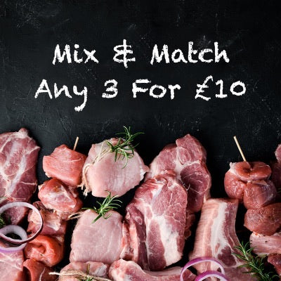 Mix & Match - Any 3 For £10