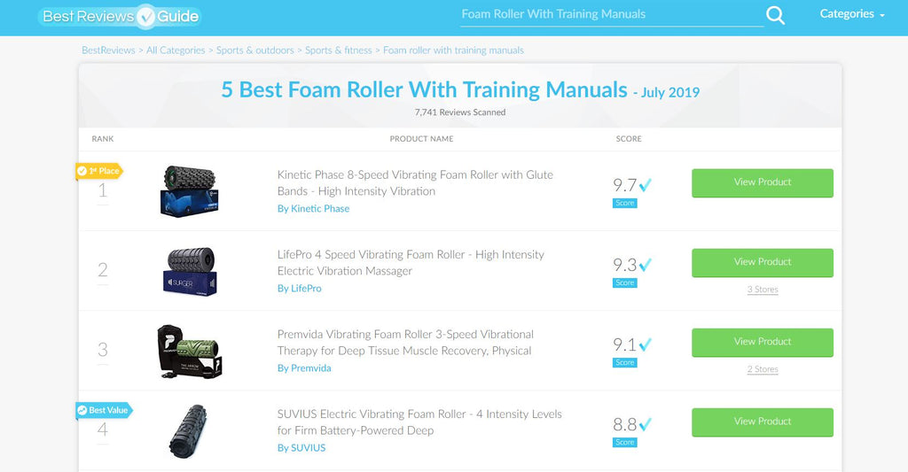 kinetic phase best vibrating foam roller