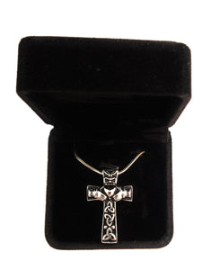Celtic Cross Claddagh Urn Necklace for Ashes - Cremation Memorial Keepsake