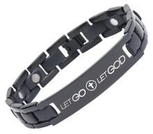 Let Go, Let God Titanium Magnetic Therapy Bracelet
